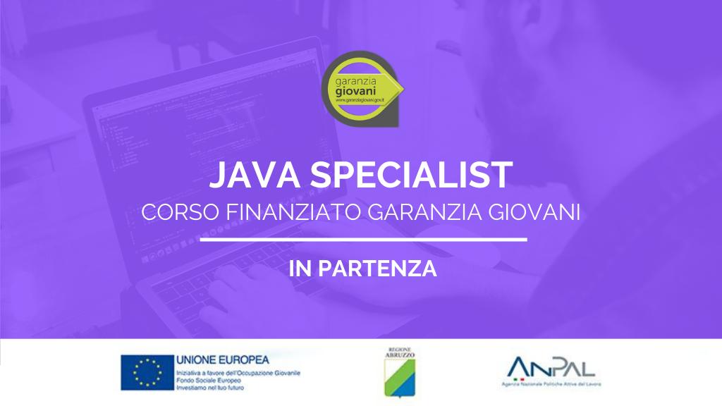 Corso finanziato Garanzia Giovani di Java Specialist in partenza